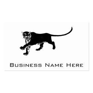 Schwarzer Vintager Tiger Visitenkarten