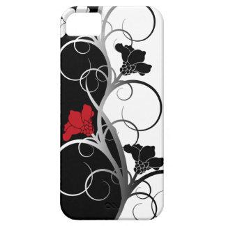 Schwarzer/weißer Blumen iPhone 5/5S Kasten iPhone 5 Schutzhüllen