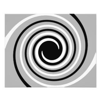 Schwarzer, weißer und grauer Drehungs-Entwurf 11,4 X 14,2 Cm Flyer
