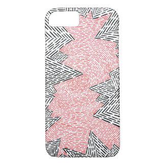 Schwarzer, weißer und roter abstrakter IPhone 7 iPhone 8/7 Hülle