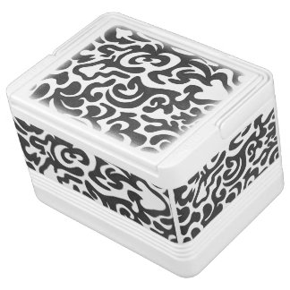 Schwarzer Wirbels-Iglu coolere 12 kann Igloo Kühlbox