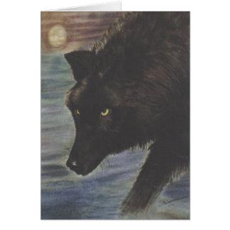 """""""Schwarzer Wolf im Wasser """" Karte"""