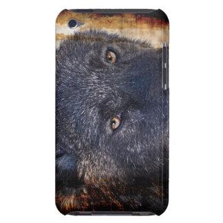 Schwarzer Wolf mustert Tier-Anhänger iPod Case-Mate Case
