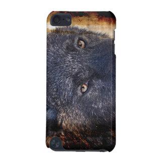 Schwarzer Wolf mustert Tier-Tierliebhaber-IPod-Kas iPod Touch 5G Hülle