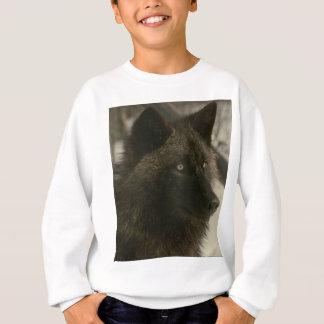 Schwarzer Wolf Sweatshirt
