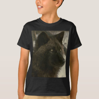 Schwarzer Wolf T-Shirt