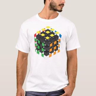 Schwarzer Würfel auf hellem Hintergrund T-Shirt