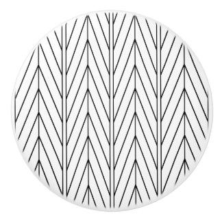 Schwarzer Zickzack Entwurf - Fach-Griff Keramikknauf