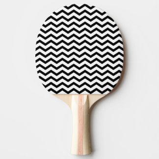 Schwarzer Zickzack Entwurf perfekt für Monogramme Tischtennis Schläger