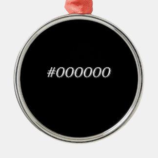 Schwarzes #000000 silbernes ornament