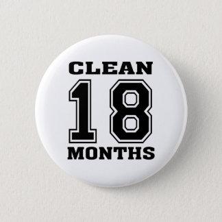 Schwarzes 18 Monate Runder Button 5,7 Cm