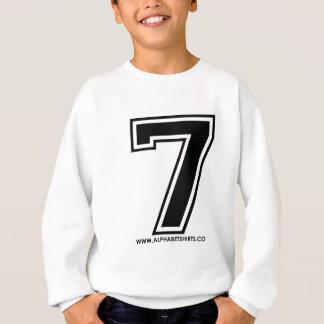 Schwarzes 7 sweatshirt