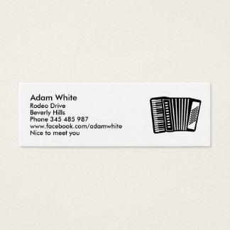 Schwarzes Akkordeon Mini Visitenkarte