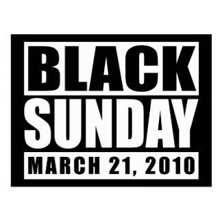 Schwarzes am Sonntag, den 21. März 2010 Postkarte