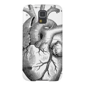 Black Anatomical Heart Galaxy Nexus Cover