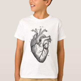 Schwarzes anatomisches Herz T-Shirt