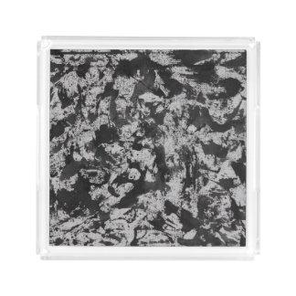 Schwarzes Aquarell auf Weiß Acryl Tablett