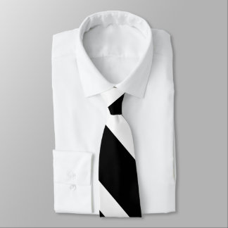 Schwarzes auf dem Weiß Striped Krawatte