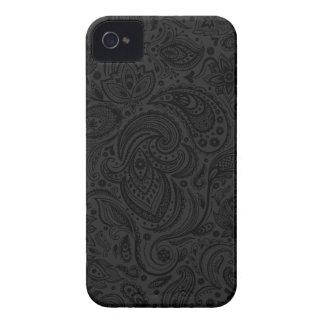 Schwarzes auf dunkelgrauer Retro Case-Mate iPhone 4 Hülle