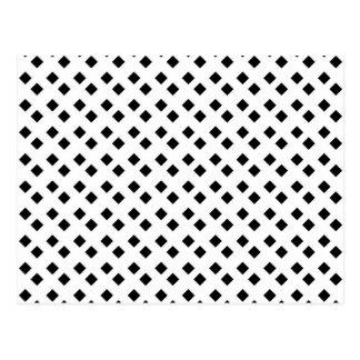 Schwarzes auf weißem Diamant-Entwurf Postkarte