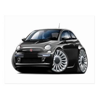 Schwarzes Auto Fiats 500 Postkarte
