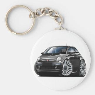 Schwarzes Auto Fiats 500 Schlüsselanhänger