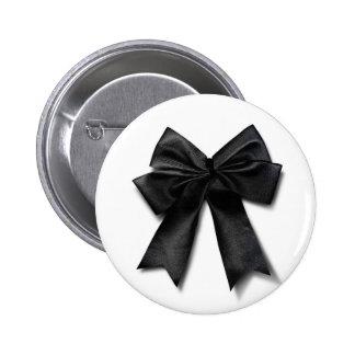 Schwarzes Band Runder Button 5,1 Cm