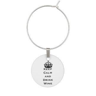 Schwarzes behalten ruhigen Wein-Glas-Charme Glasmarker