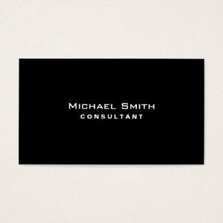 Schwarzes berufliches elegantes modernes einfaches visitenkarten