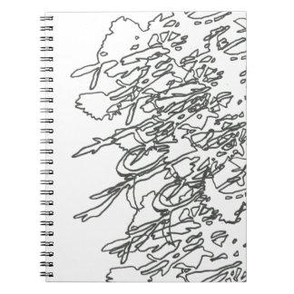 Schwarzes beschattet Notizbuch Spiral Notizblock