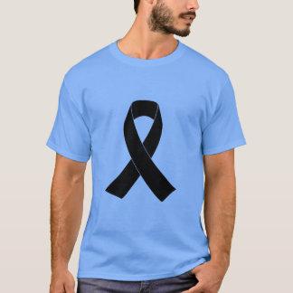 Schwarzes Bewusstseins-Band T-Shirt