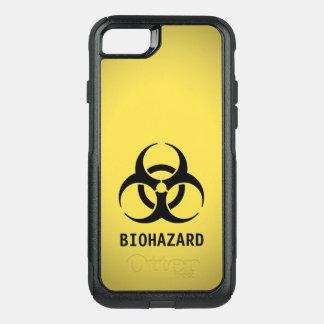 Schwarzes Biogefährdung-Symbol auf Gelb