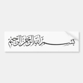 Schwarzes Bismillah im Namen Allah-Schreibens Autoaufkleber