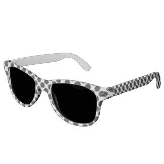 Schwarzes Blumen-Band Brille