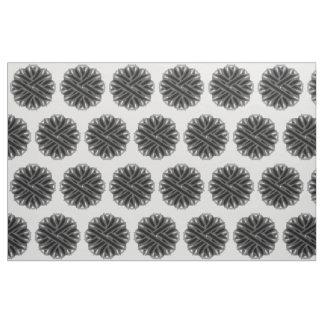 Schwarzes Blumen-Band Stoff