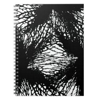 Schwarzes Blumen-Klemmbrett Spiral Notizblock