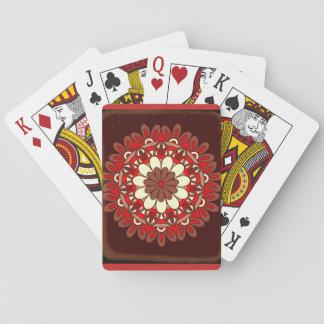 Schwarzes Blumenmuster Burgunders Spielkarten