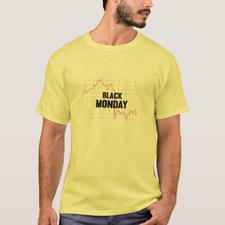 Schwarzes Börse-Shirt Montages T-Shirt