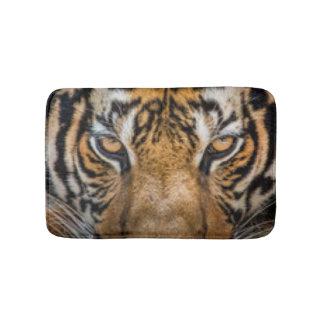 Schwarzes Brown-Tiger-Gesicht Badematten