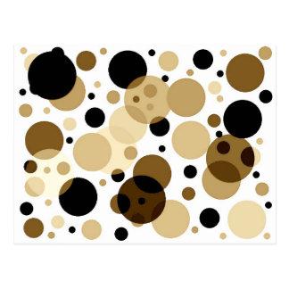 Schwarzes Brown u. weiße Punkte Postkarte