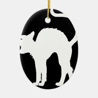 schwarzes cat2 keramik ornament