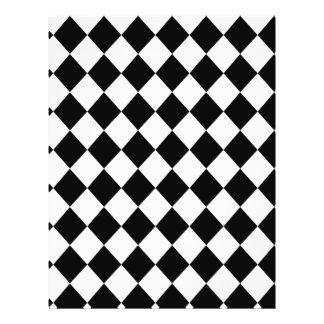 Schwarzes Checkered Mod, das Muster läuft 21,6 X 27,9 Cm Flyer