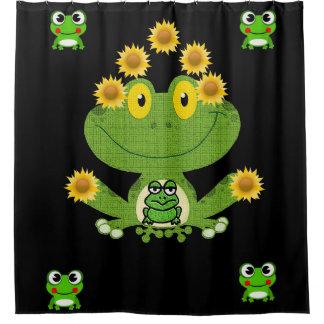 Schwarzes das showercurtain der grüne gelbe duschvorhang