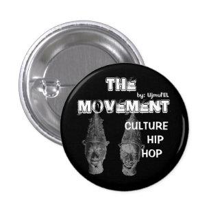 (Schwarzes) der runde Knopf der Bewegung Runder Button 3,2 Cm