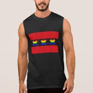 Schwarzes des Amsterdam-Gay Pride-Regenbogen-X Ärmelloses Shirt