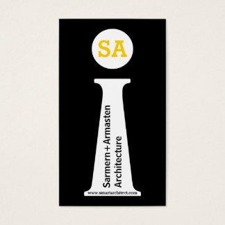 Schwarzes des Architekten modernes, weißes, gelbes Visitenkarte