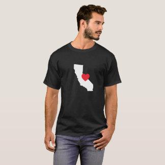 Schwarzes des Kalifornien-Liebe-T - Shirt-| T-Shirt