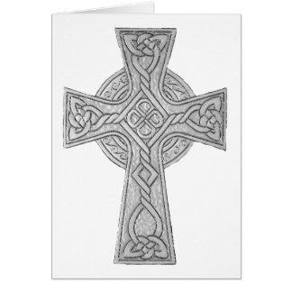Schwarzes des keltischen Kreuz-3 Karte