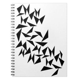 Schwarzes Dreieck-Notizbuch Spiral Notizblock