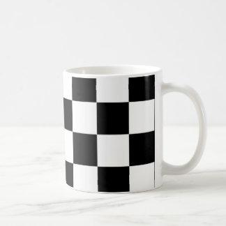 schwarzes e-Weiß Kaffeetasse